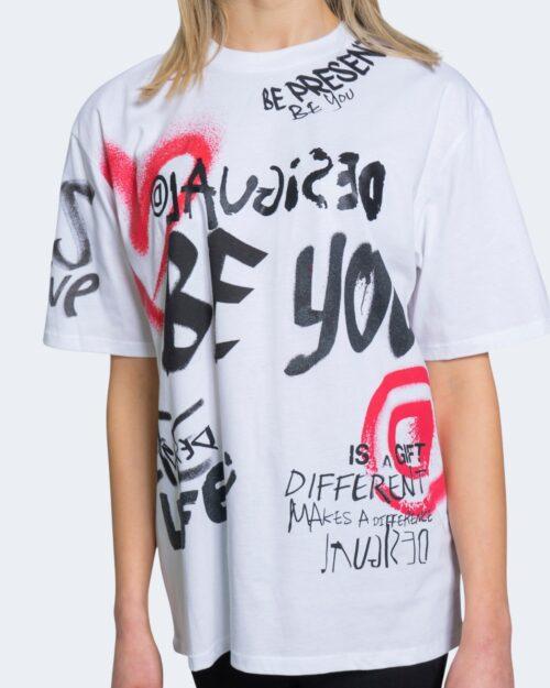 T-shirt Desigual TS OHIO Bianco - Foto 3