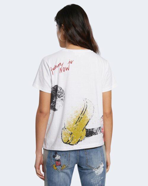 T-shirt Desigual MICKEY Bianco - Foto 4