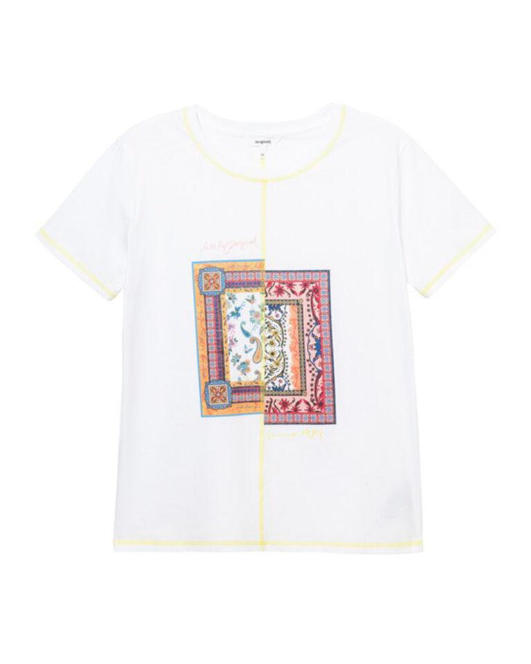T-shirt Desigual VERONA Bianco - Foto 2