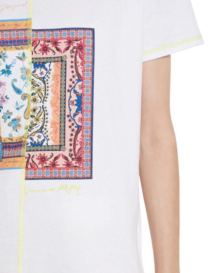 T-shirt Desigual VERONA Bianco - Foto 4