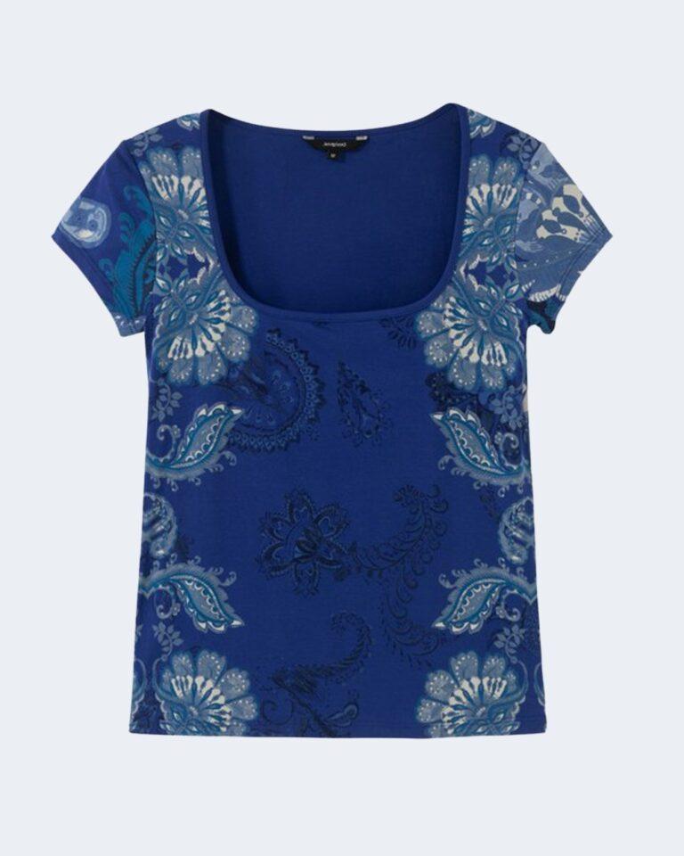 T-shirt Desigual BRASILIA Blu - Foto 3