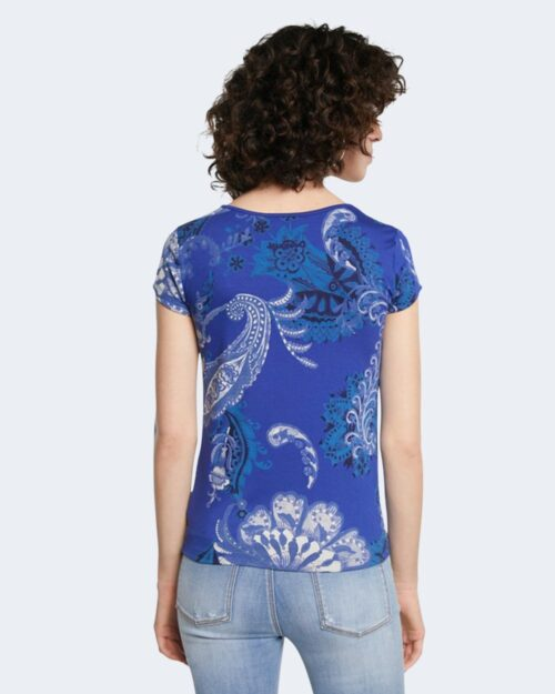 T-shirt Desigual BRASILIA Blu - Foto 4
