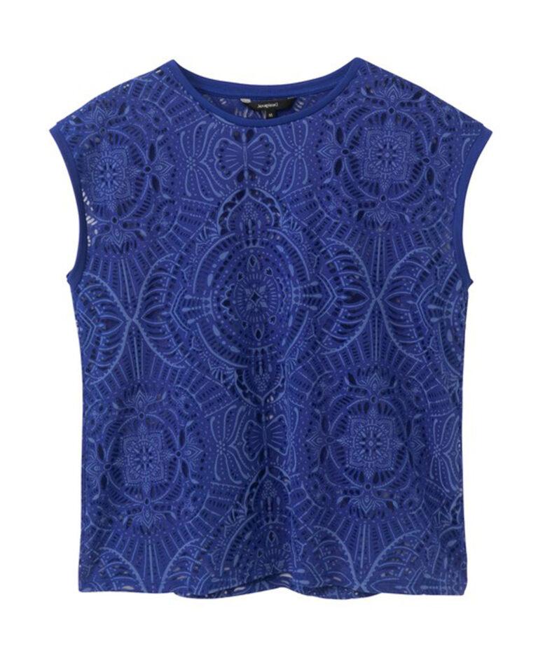 T-shirt Desigual NILO Blu - Foto 4