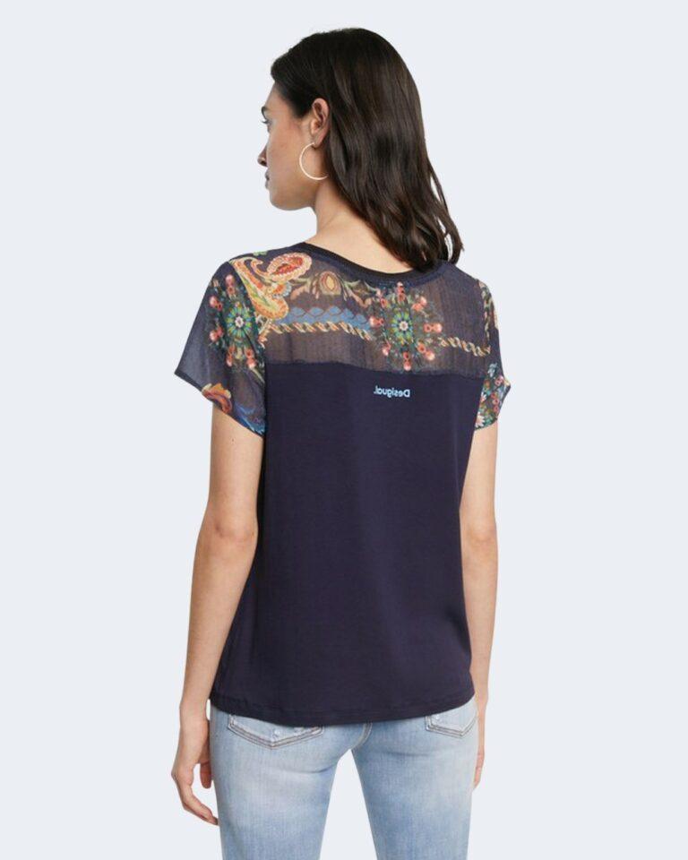 T-shirt Desigual VIENA Blu - Foto 4