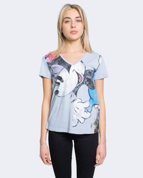 T-shirt Desigual MINNIE Celeste - Foto 1