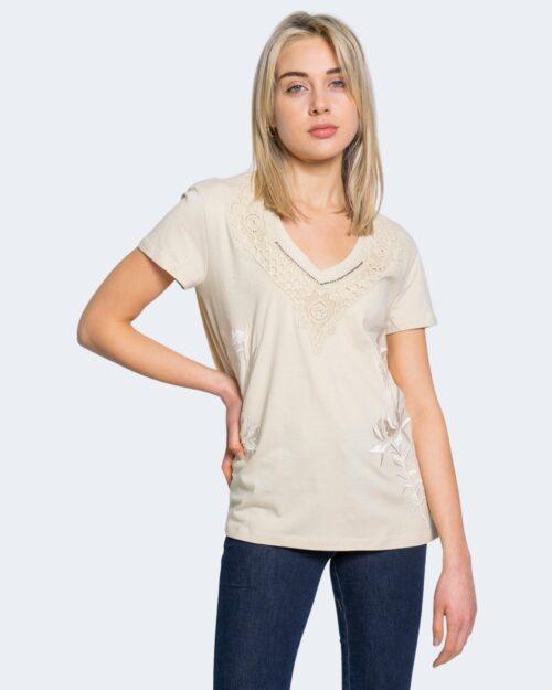 T-shirt Desigual TS RODAS Crema - Foto 1