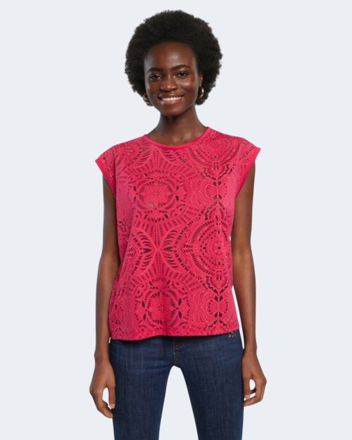 T-shirt Desigual NILO Fuxia - Foto 1