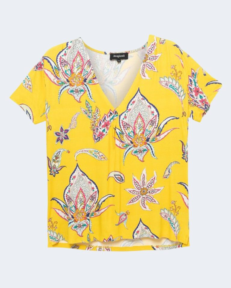 T-shirt Desigual LEMARK Giallo - Foto 4