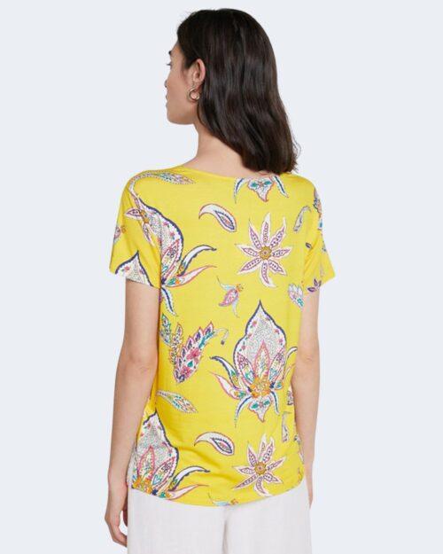 T-shirt Desigual LEMARK Giallo - Foto 3