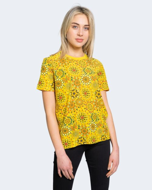 T-shirt Desigual LYON Giallo - Foto 1