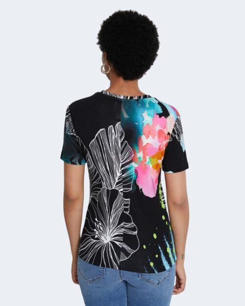 T-shirt Desigual LEAVES Nero - Foto 2