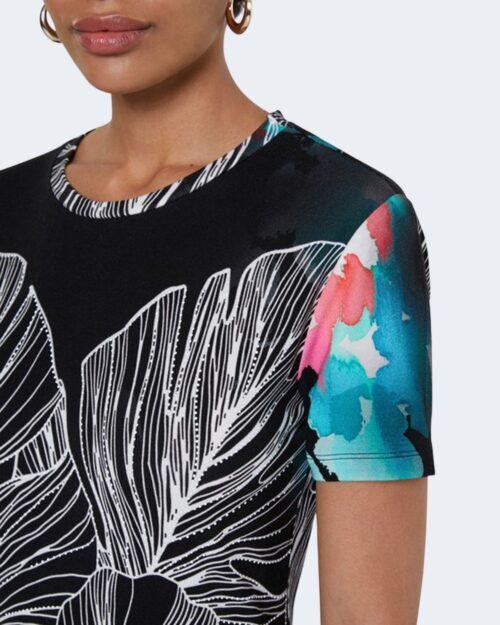 T-shirt Desigual LEAVES Nero - Foto 3