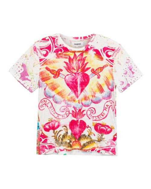T-shirt Desigual TATTOO Panna - Foto 2