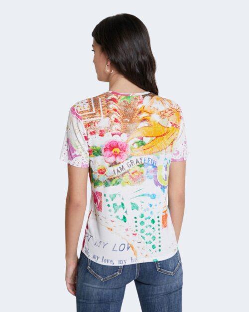 T-shirt Desigual TATTOO Panna - Foto 3