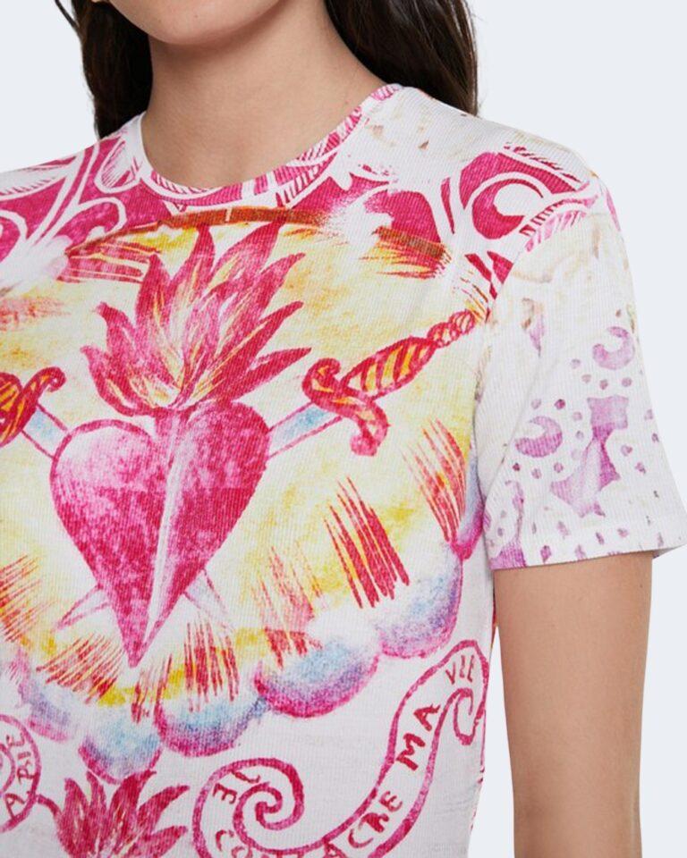 T-shirt Desigual TATTOO Panna - Foto 4