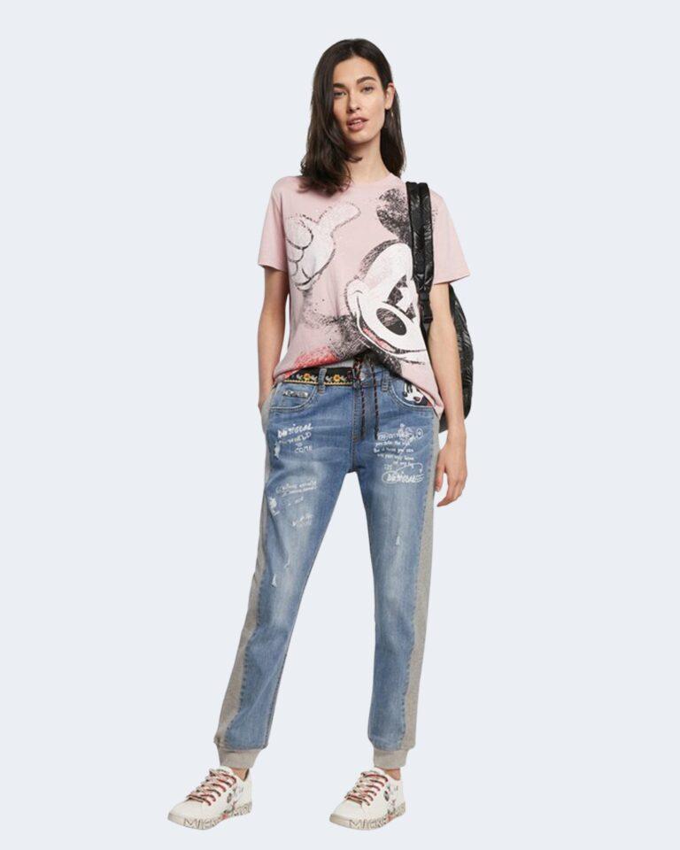 T-shirt Desigual MICKEY Rosa Cipria - Foto 1