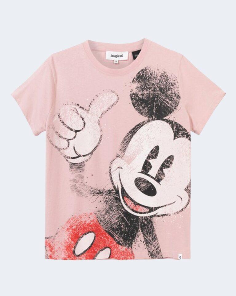 T-shirt Desigual MICKEY Rosa Cipria - Foto 2