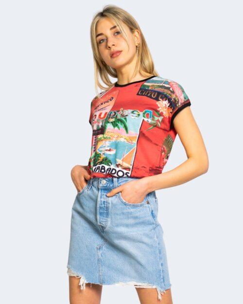 T-shirt Desigual COLOMBIA Rosso - Foto 1