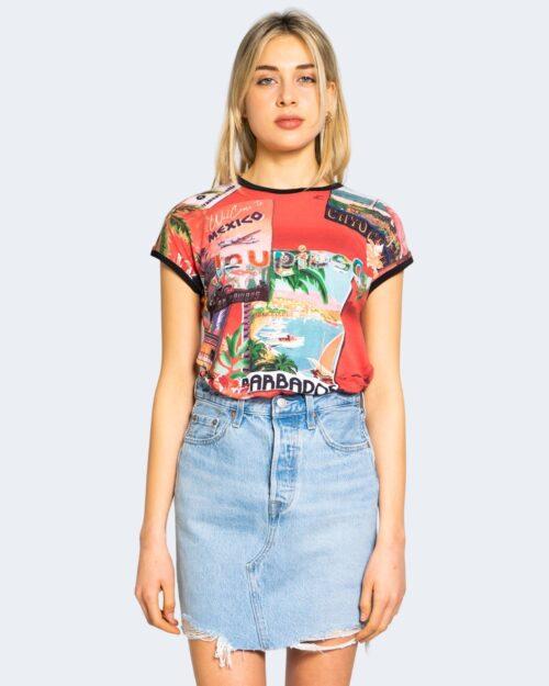 T-shirt Desigual COLOMBIA Rosso - Foto 2