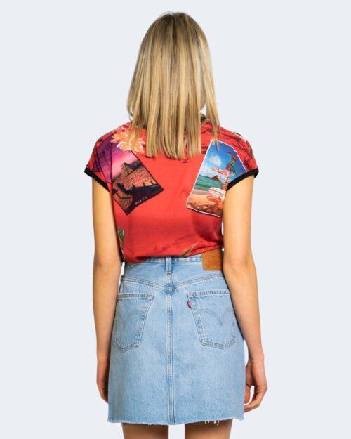 T-shirt Desigual COLOMBIA Rosso - Foto 3