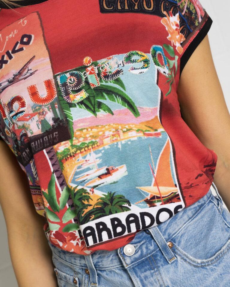 T-shirt Desigual COLOMBIA Rosso - Foto 4