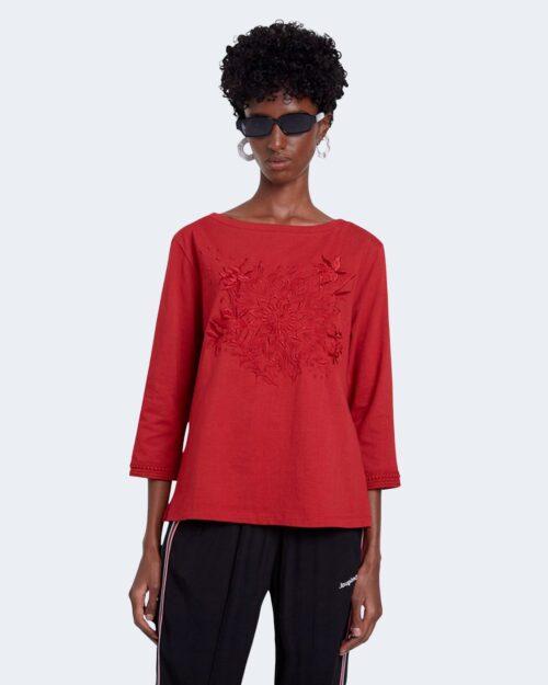 T-shirt Desigual Ts dublin Rosso - Foto 1