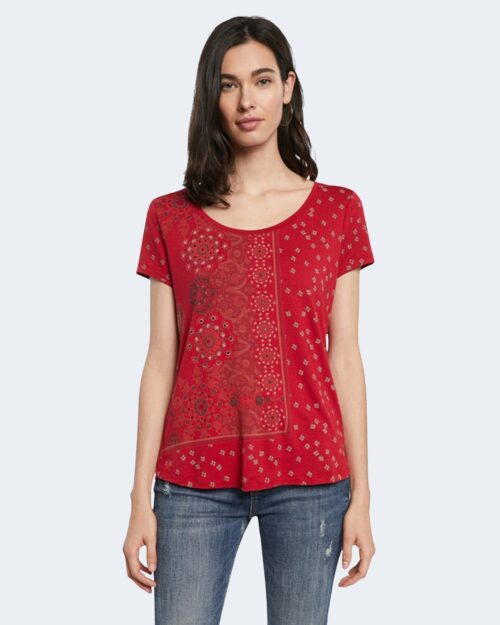 T-shirt Desigual ESTAMBUL Rosso - Foto 1