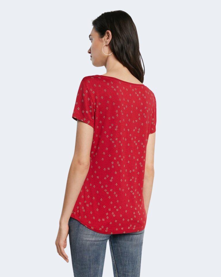 T-shirt Desigual ESTAMBUL Rosso - Foto 3