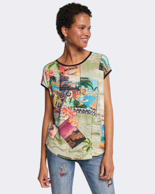 T-shirt Desigual COLOMBIA Verde - Foto 1