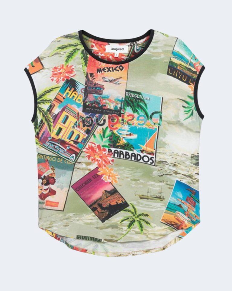 T-shirt Desigual COLOMBIA Verde - Foto 2
