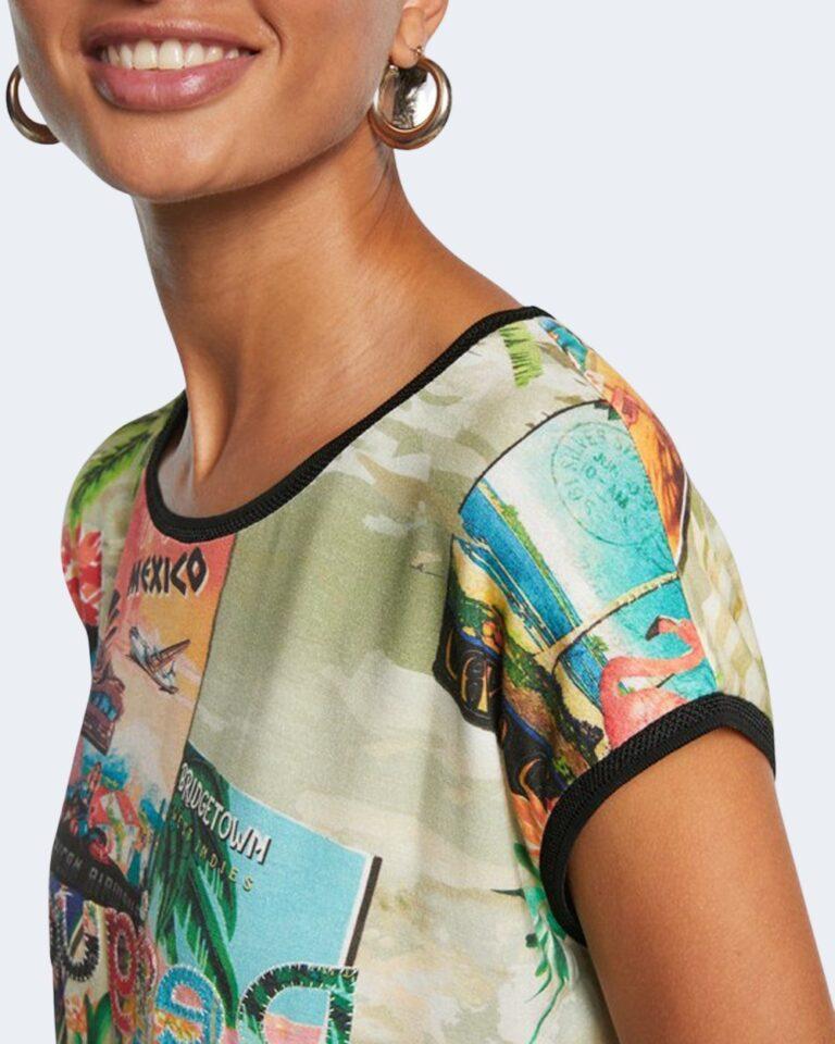 T-shirt Desigual COLOMBIA Verde - Foto 3