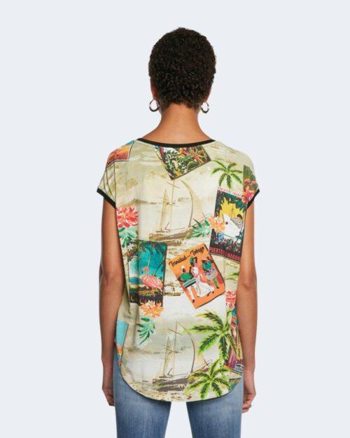 T-shirt Desigual COLOMBIA Verde - Foto 4