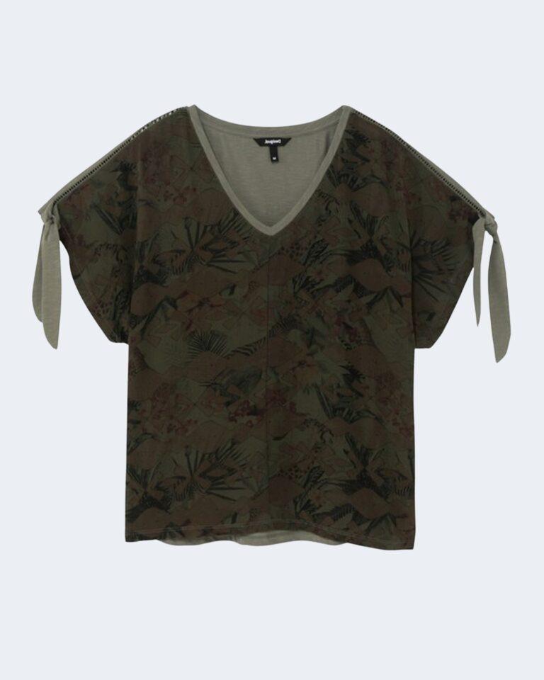 T-shirt Desigual STATEN ISLAND Verde - Foto 2