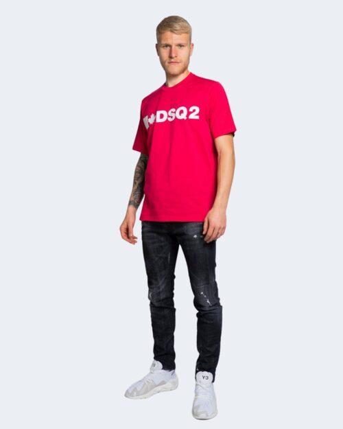 T-shirt Dsquared2 STAMPA LOGO Magenta – 69303