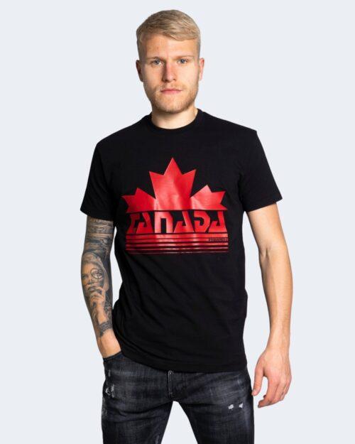 T-shirt Dsquared2 STAMPA LOGO Nero – 69305