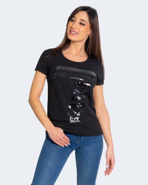 T-shirt Ea7 LOGO PAILLETTES Nero – 68906