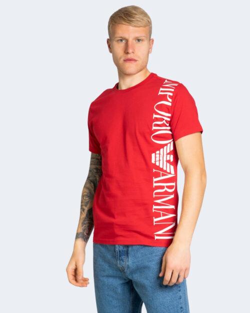 T-shirt Emporio Armani LOGO LATERALE Rosso – 70111