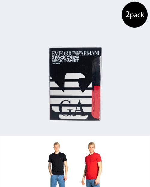 T-shirt Emporio Armani 2 PACK SLIM FIT MICROFIBRA Rosso – 68037