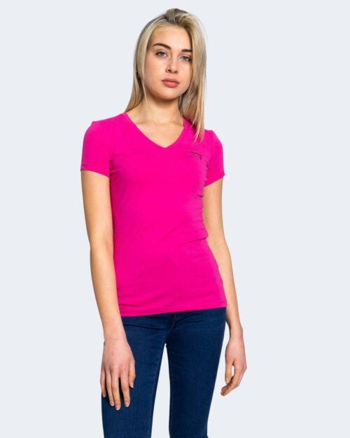 T-shirt Guess MINI TRIANGLE Fuxia – 64160