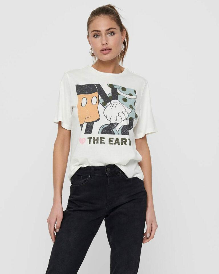 T-shirt Jacqueline de Yong NINA Panna - Foto 1