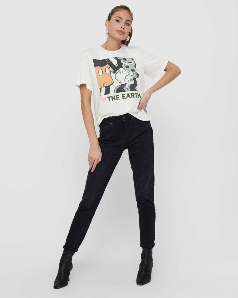 T-shirt Jacqueline de Yong NINA Panna - Foto 2