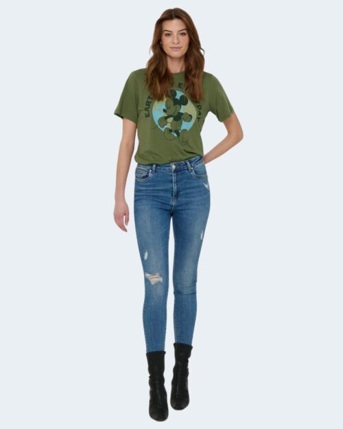 T-shirt Jacqueline de Yong NINA Verde Oliva - Foto 2
