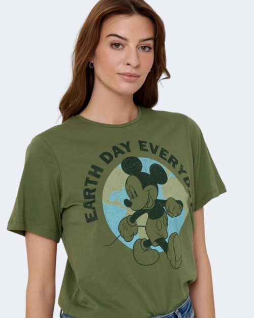 T-shirt Jacqueline de Yong NINA Verde Oliva - Foto 3