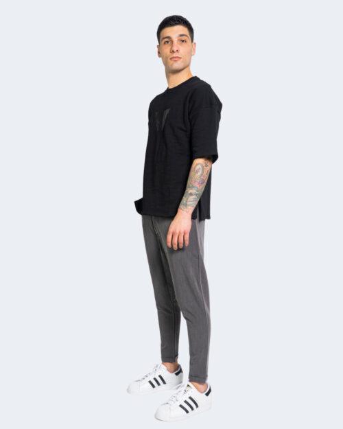T-shirt Kimik LOGO FRONTALE Nero – 67816