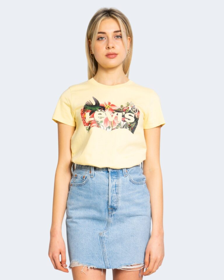 T-shirt Levi's® THE PERFECT TEE Giallo - Foto 4