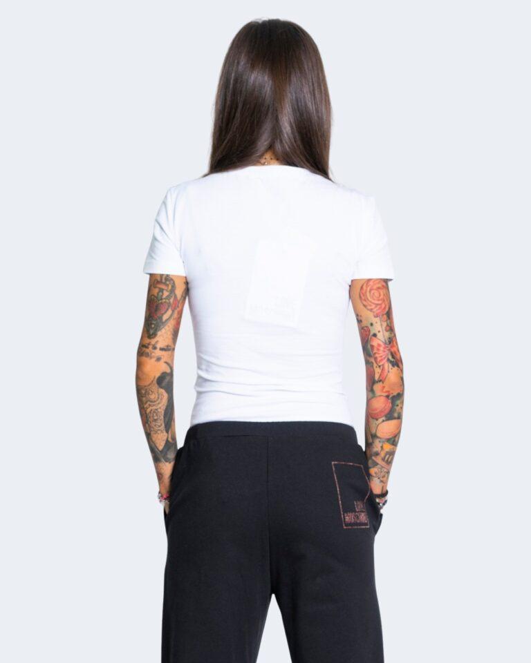 T-shirt Love Moschino LOGO CORE Bianco - Foto 2