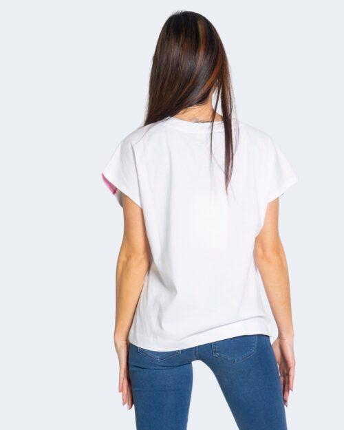 T-shirt Love Moschino STAMPA COLOTA VERNICE Bianco – 68901