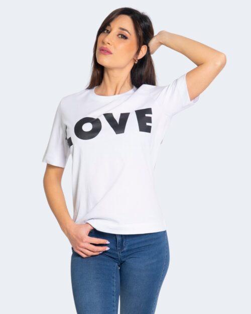 T-shirt Love Moschino LOGO GRANDE Bianco – 56142