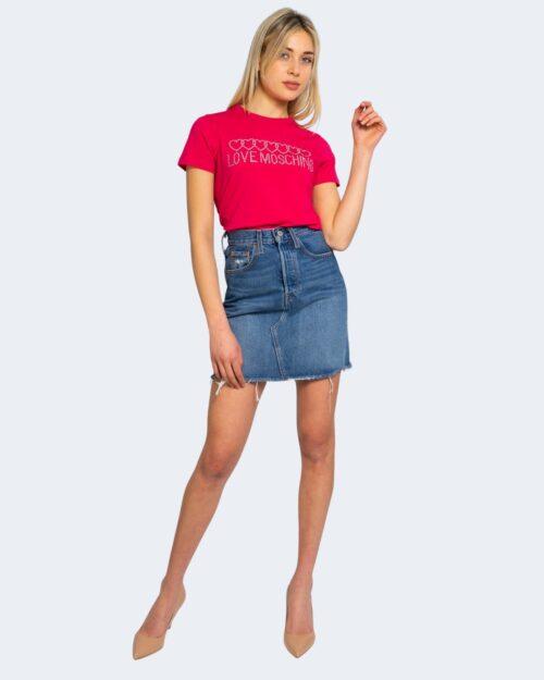 T-shirt Love Moschino BRILLANTINI Fuxia – 67334