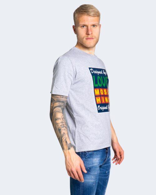 T-shirt Love Moschino STAMPA LOGO Grigio – 56216
